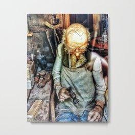 Vintage Cobbler Metal Print