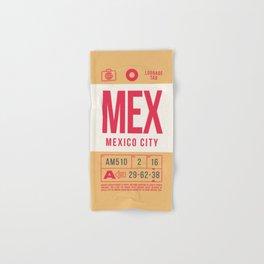 Retro Airline Luggage Tag 2.0 - MEX Mexico City International Airport Mexico Hand & Bath Towel