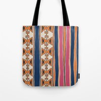cleveland Tote Bags featuring Cleveland 3 by Little Brave Heart Shop