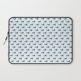 blue horse pattern Laptop Sleeve