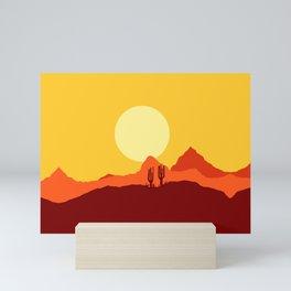 Mojave desert scene Mini Art Print