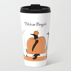 Funny Penguin Halloween Travel Mug