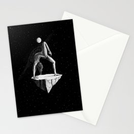 Space Yoga Stationery Cards