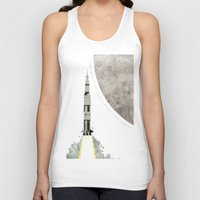 apollo Tank Tops featuring Apollo Rocket by WyattDesign