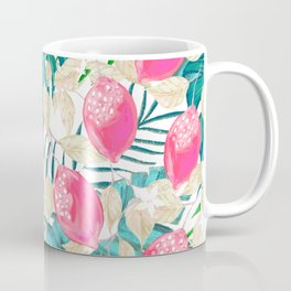 Pink fruit with tropical pattern #society6 Coffee Mug