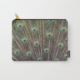 Pretty Peacock Feathers Carry-All Pouch