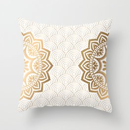 Gold Mandala 13 Throw Pillow
