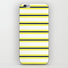 Nautical Yellow, White and Navy, Crisp and Clean Lines iPhone Skin