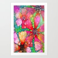 stained glass Art Prints featuring Stained Glass by 2dayspic