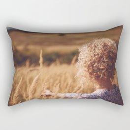Girl in the field Rectangular Pillow