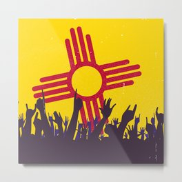 New Mexico State Flag with Audience Metal Print