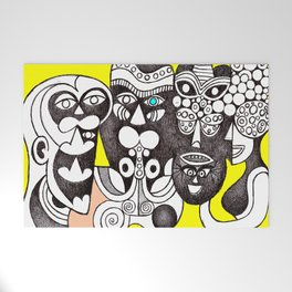 Bakongo Ritual Masks (african tribal art) Welcome Mat