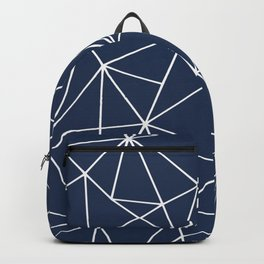 Abstract, Geometric Art, Navy Blue Backpack