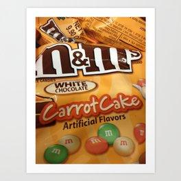 Carrot Cake M&M Art Print