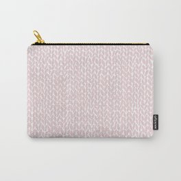 Hand Knit Bubblegum Carry-All Pouch