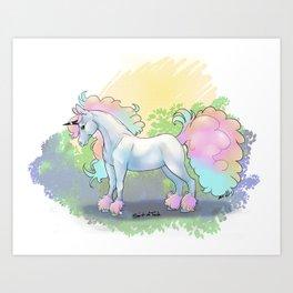 Galarian Ponyta Art Print