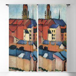 August Macke - St. Mary's with Houses and Chimney Blackout Curtain