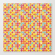 Funny Polkas-Yellow and orange Canvas Print