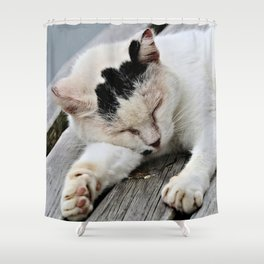 Cat Dreaming Shower Curtain