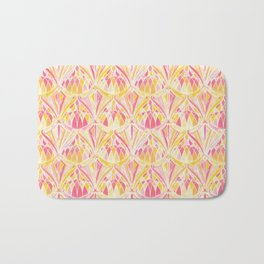 Art Deco Pattern in Pink and Orange Bath Mat