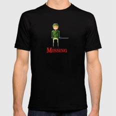 missing link Mens Fitted Tee SMALL Black