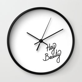 Hey Beauty   [black] Wall Clock