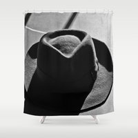 hat Shower Curtains featuring Hat by Fernando Derkoski