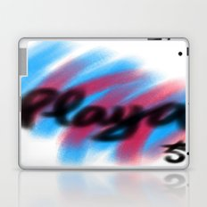 Play Time a la Playa, Beach, Pink and Blue Laptop & iPad Skin
