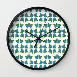 Blue Fields Wall Clock
