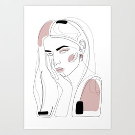 In Blush Art Print