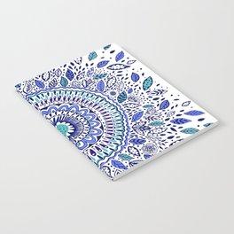 Indigo Flowered Mandala Notebook