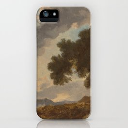 Mountain Landscape at Sunset by Jean-Honoré Fragonard iPhone Case