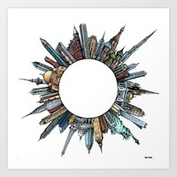 globe Art Prints featuring Globe. by Bethan Powell