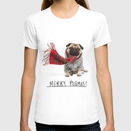 Merry Pugmas 4 T-shirt