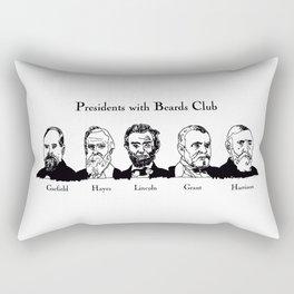 Presidents With Beards Club Rectangular Pillow