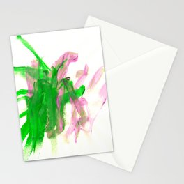 First paint abstract by Keira Stationery Cards