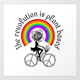 The revolution is plant based Art Print