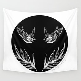 Sparrows and Ferns Wall Tapestry