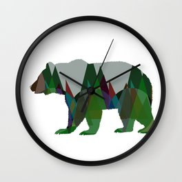 Lonely Jungle Bear Wall Clock