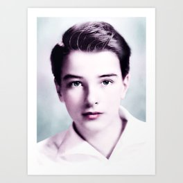 Young Montgomery Clift Infrared art by Ahmet Asar Art Print