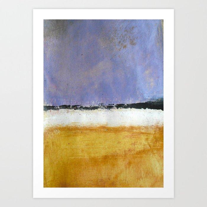 Mark Rothko Interpretation Acrylics On Paper Art Print By