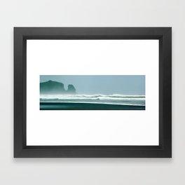 New Zealand, Bethells Beach Framed Art Print