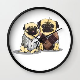 Sweater Pugs Wall Clock