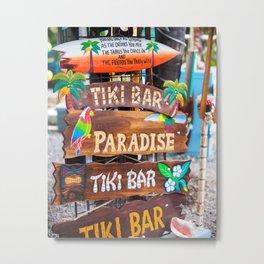 Which Way Tiki Bar Metal Print