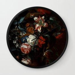 """Philip van Kouwenbergh """"Flowers in a Vase"""" Wall Clock"""