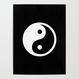 Yin Yang Black White Poster