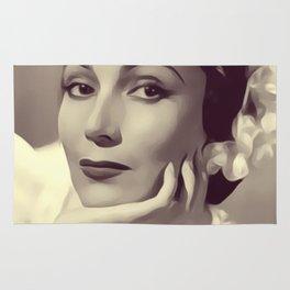 Delores del Rio, Vintage Actress Rug