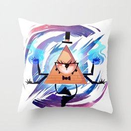 Bill Cipher Throw Pillow