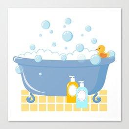 Bubble Bath Tub Canvas Print