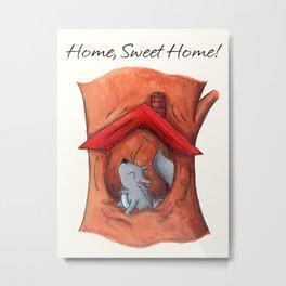 Home Sweet Tree Metal Print